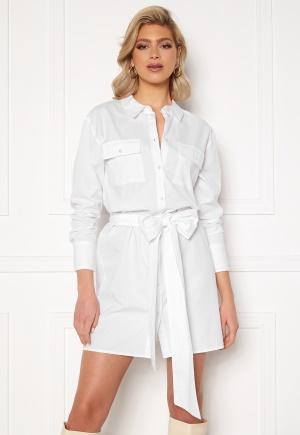 Sara Sieppi x Bubbleroom Belted Shirt Dress White L