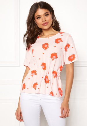 SELECTED FEMME Anna AOP S/S Top Heavenly Pink 40