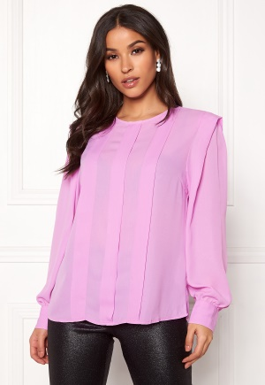 SELECTED FEMME Chanelle LS Pleat Top Orchid 34
