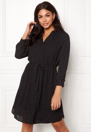 SELECTED FEMME Damina 7/8 Dot Dress Black/Creme Dots 34