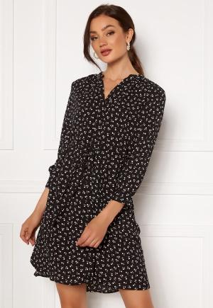 SELECTED FEMME Damina 7/8 Print Dress Black AOP: Flower 44