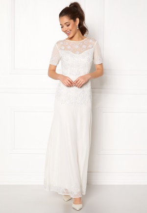 AngelEye Sequin Embellished Dress White L (UK14)