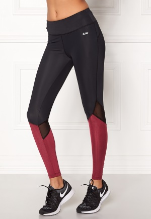 Shape Me Up Stella Tights Black/Burgundy XS