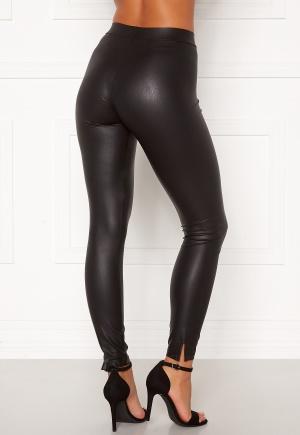 Pieces Shiny MW Slit Leggings Black Detail: CP XS/S