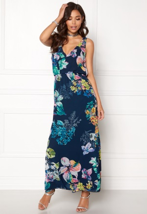 Sisters Point Ems-Dr Dress Navy/Flower L