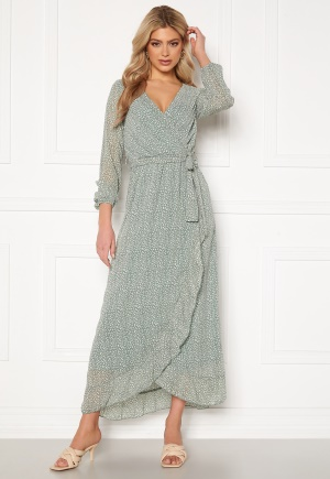 Sisters Point Gush Dress 300 L.Green/Leo XS