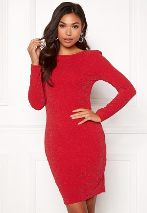 Sisters Point Catrin Lurex Dress 501 Red/Silver S