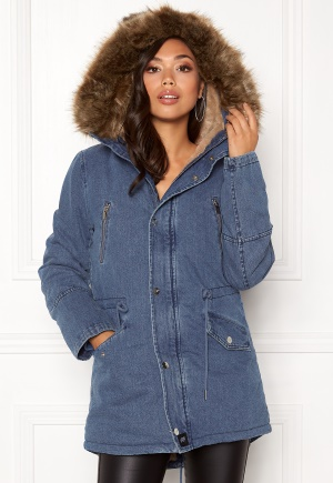 Sixth June Parkas Denim Jacket Blue Denim L