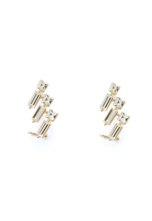 SNÖ of Sweden District Cuff Earring g/Clear One size