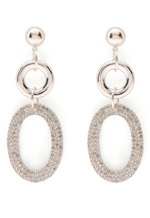 SNÖ of Sweden Doreen Pendant Earring Silver/Clear One size