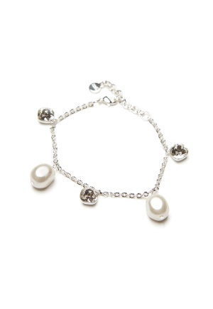 SNÖ of Sweden Muse Charm Bracelet s/White One size