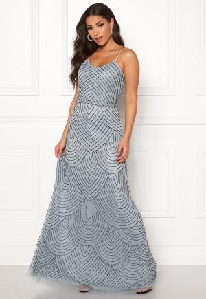 Bilde av Angeleye Strappy Sequin Maxi Dress Heather Blue Xl (uk16)