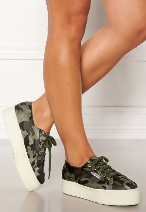 Superga Camo Sneakers Green Camo A15 40