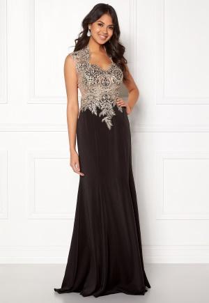 SUSANNA RIVIERI Embellished Mesh Dress Black 34