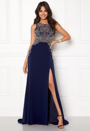SUSANNA RIVIERI Emballished Sparkling Dress Navy 34