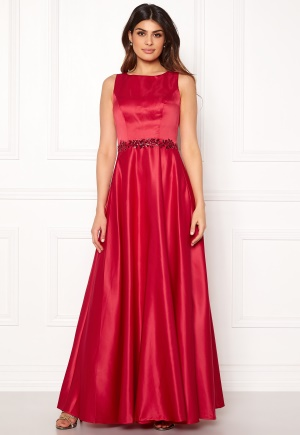SUSANNA RIVIERI Ceremonial Satin Dress Red 42