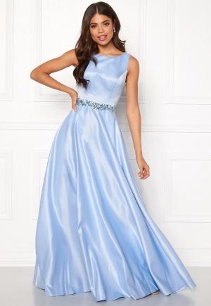 SUSANNA RIVIERI Ceremonial Satin Dress Ice Blue 34