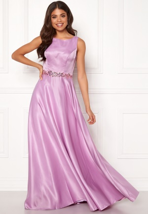 SUSANNA RIVIERI Ceremonial Satin Dress Violet 36