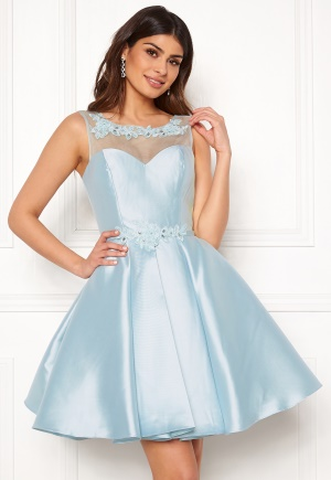 SUSANNA RIVIERI Embroidered Dream Dress Ice Blue 36