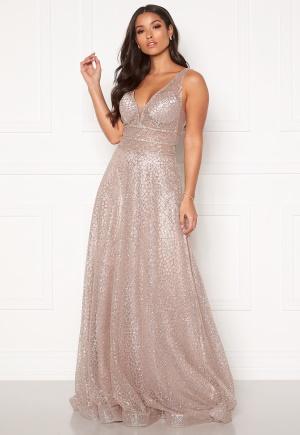 SUSANNA RIVIERI Sparkling Glitter Gown Mauve 36 (ES38)