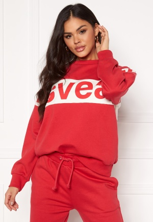 Svea 2 Col Big Svea Logo Crew 400 Red S