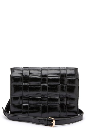 OBJECT Tani Braided PU Crossover Black One size