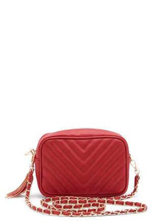 Gessy Tassel Chain Bag Red One size