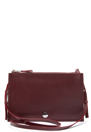 TIGER OF SWEDEN Suzanne Leather Purse Burgundy One size