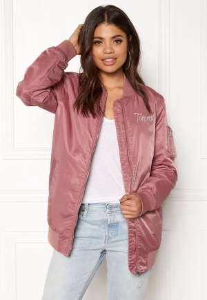 Image of TOMMY JEANS THDW Nylon Bomber Withered Rose M