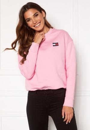 TOMMY JEANS Badge Crew Sweatshirt Toj Romantic Pink L