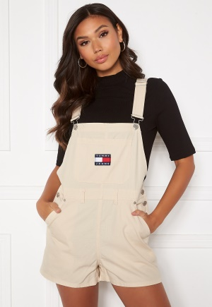 TOMMY JEANS Dungaree Shorts Sugarcane L