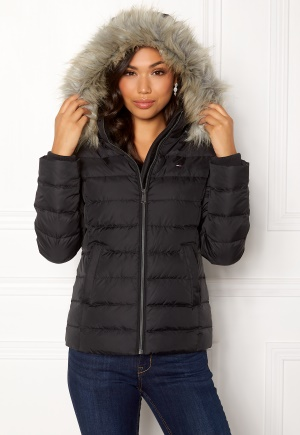 cb124db5 TOMMY JEANS Essential Down Jacket 078 Tommy Black L TOMMY JEANS · Bubbleroom .no
