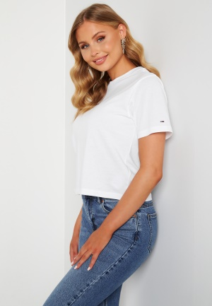 Image of TOMMY JEANS Linear Logo Tee YBR White L