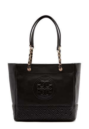 TORY BURCH Fleming Tote Bag Black One size