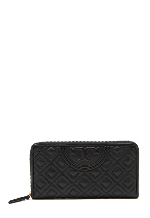 TORY BURCH Fleming Zip Wallet Black One size
