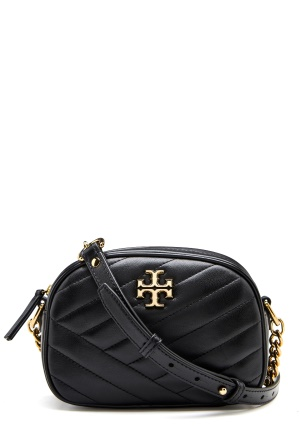 TORY BURCH Kira Chevron Camera Bag Black One size