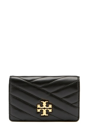 TORY BURCH Kira Chevron M Wallet Black One size