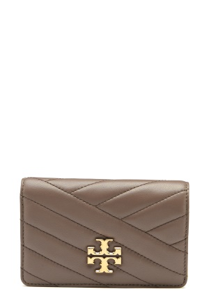TORY BURCH Kira Chevron M Wallet Classic Taupe One size