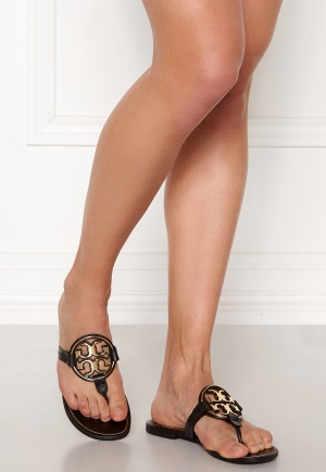 TORY BURCH Miller Metal Sandal 013 Black /Gold 40
