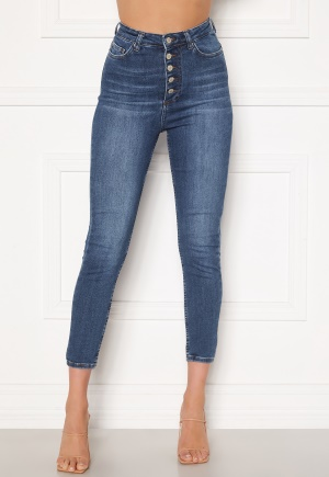 Trendyol Buttoned Front Jeans Lacivert/Navy 34
