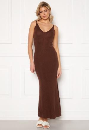Trendyol Lisa Maxi Dress Kahverengi/Brown L