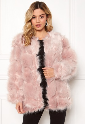 Urban Mist Diamond Panelled Fur Dusty Pink XXS (UK6)