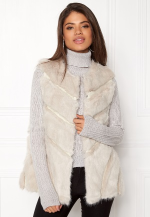 Urban Mist Faux Fur Panel Swing Creme M