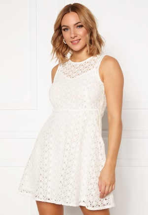 VERO MODA Allie Lace S/L Short Dress Snow White L