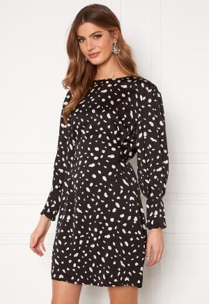 VERO MODA Calina L/S Shoirt Tie Dress Black AOP Calina XL