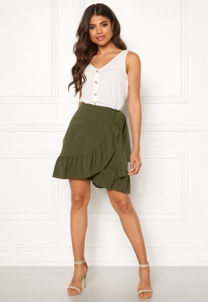 VERO MODA Cita Bobble Wrap Skirt Ivy Green L