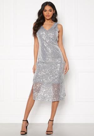VERO MODA Daisy Calf Dress Silver Sconce XS