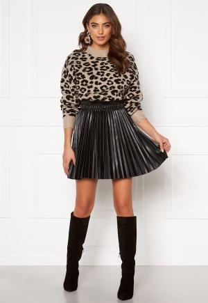 VERO MODA Elvira Coated Skirt Black Metallic M