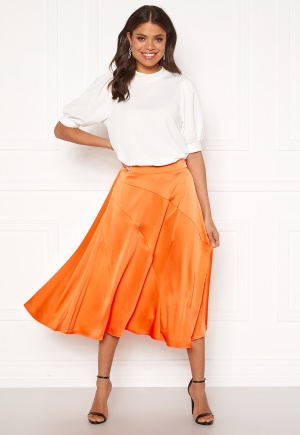 VERO MODA Gabbi Calf Skirt Coral Rose XL