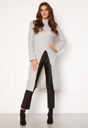 Image of VERO MODA Gaiva LS Funnelneck Slit Dress Light Grey Melange L